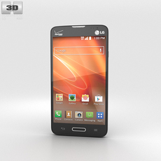 LG Optimus Exceed 2 (VS450PP) Black 3D Model