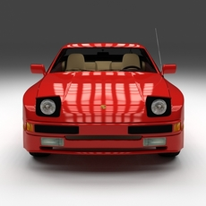 Early Porsche 944  with interior 3D Model