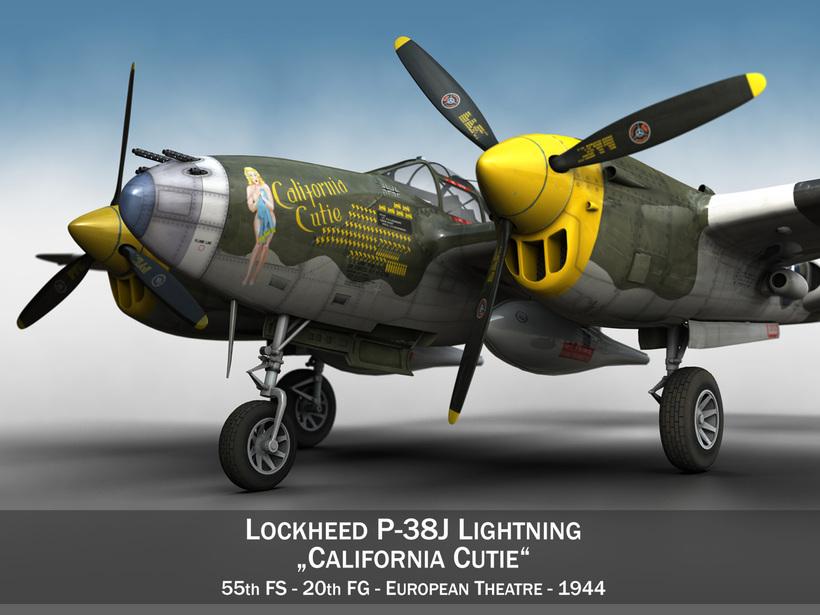 Lockheed P-38 Lightning - California Cutie 3D Model