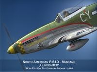 North American P-51D - Gunfighter 3D Model