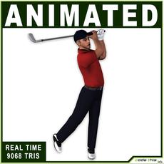 White Golfer 9068 tris 3D Model