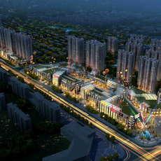 City shopping mall 124 3D Model