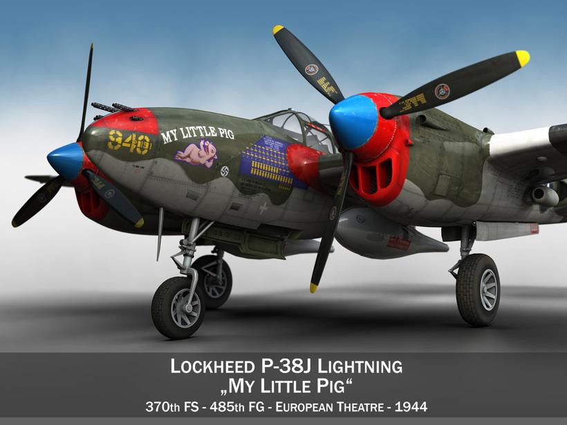 Lockheed P-38 Lightning - My little Pig 3D Model