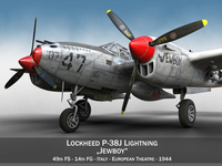 Lockheed P-38 Lightning - Jewboy 3D Model