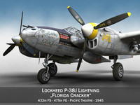 Lockheed P-38 Lightning - Florida Cracker 3D Model