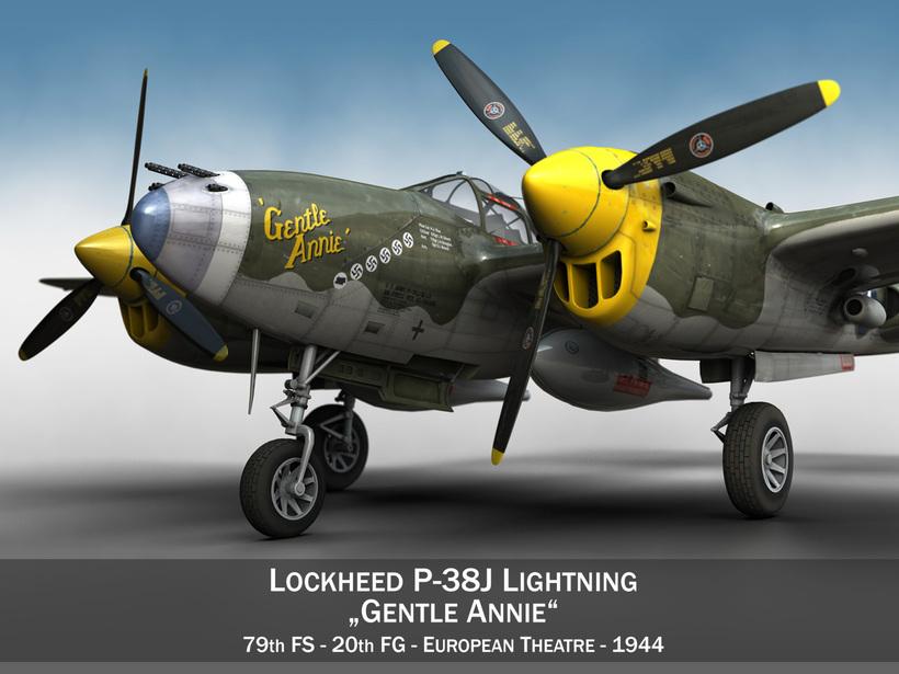 Lockheed P-38 Lightning - Gentle Annie 3D Model