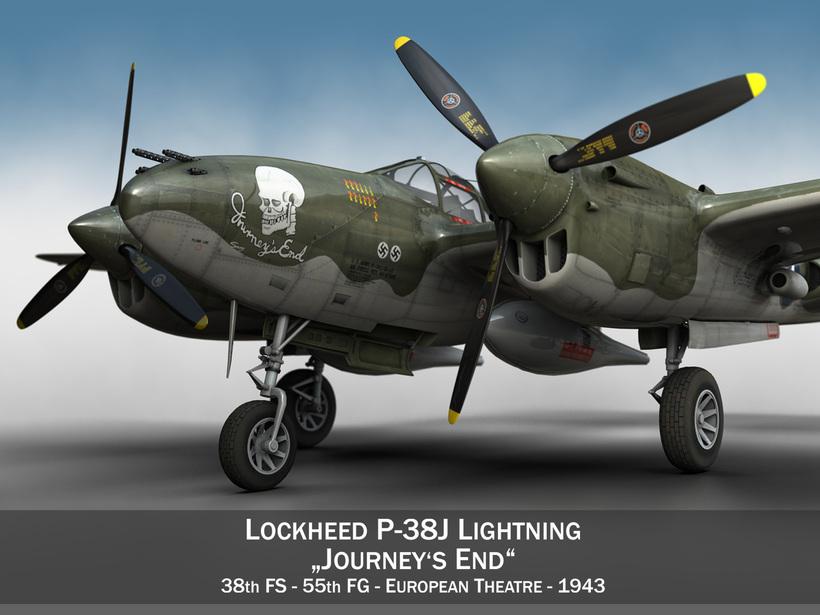 Lockheed P-38 Lightning - Journeys End 3D Model