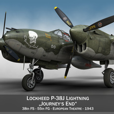 Lockheed P-38 Lightning - Journeys End 3D Model