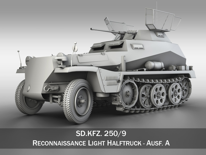 SD.KFZ 250/9 - Reconnaissance Vehicle 3D Model