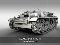StuG III - Ausf.D 3D Model
