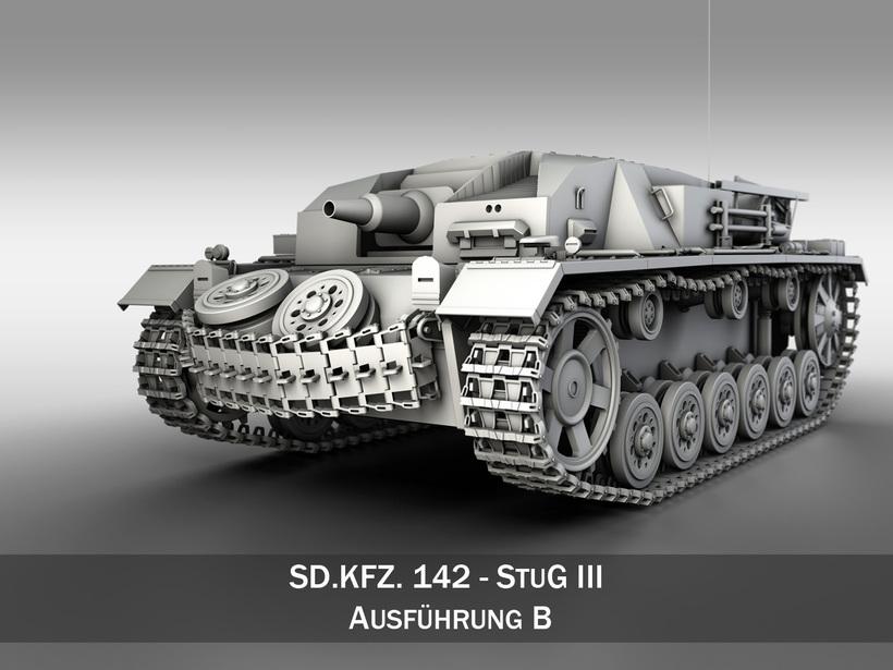 StuG III - Ausf.B 3D Model