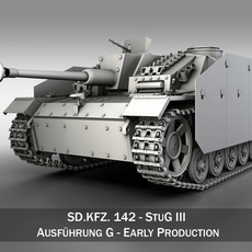 SD.KFZ 142 StuG III Ausf. G Early Production 3D Model