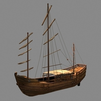 Chinese old ship 02 3D Model