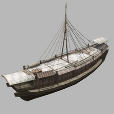 Chinese old ship 04 3D Model