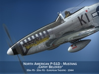 North American P-51D Mustang - Cathy Beloved 3D Model