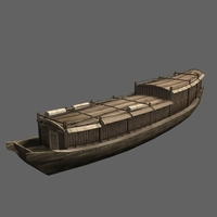 Chinese old ship 05 3D Model