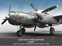 Lockheed P-38 Lightning - Hazel 3D Model