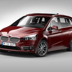BMW 2 Series Grand Tourer (2016) 3D Model