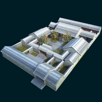 Chinese quadrangle 3D Model
