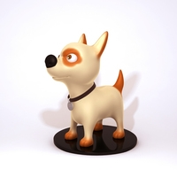 Dog cartoon 01 3D Model