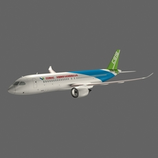 Chinese_Trunk_Aircraft_C919 3D Model