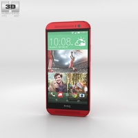 HTC One (M8) Glamor Red 3D Model