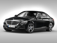 Mercedes Benz S Class (2014) 3D Model
