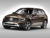 Mercedes Benz GLC Class (2016) 3D Model