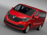 Renault Trafic Minibus 2015 3D Model
