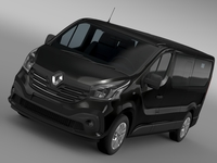 Renault Trafic Minibus L2H1 2015 3D Model