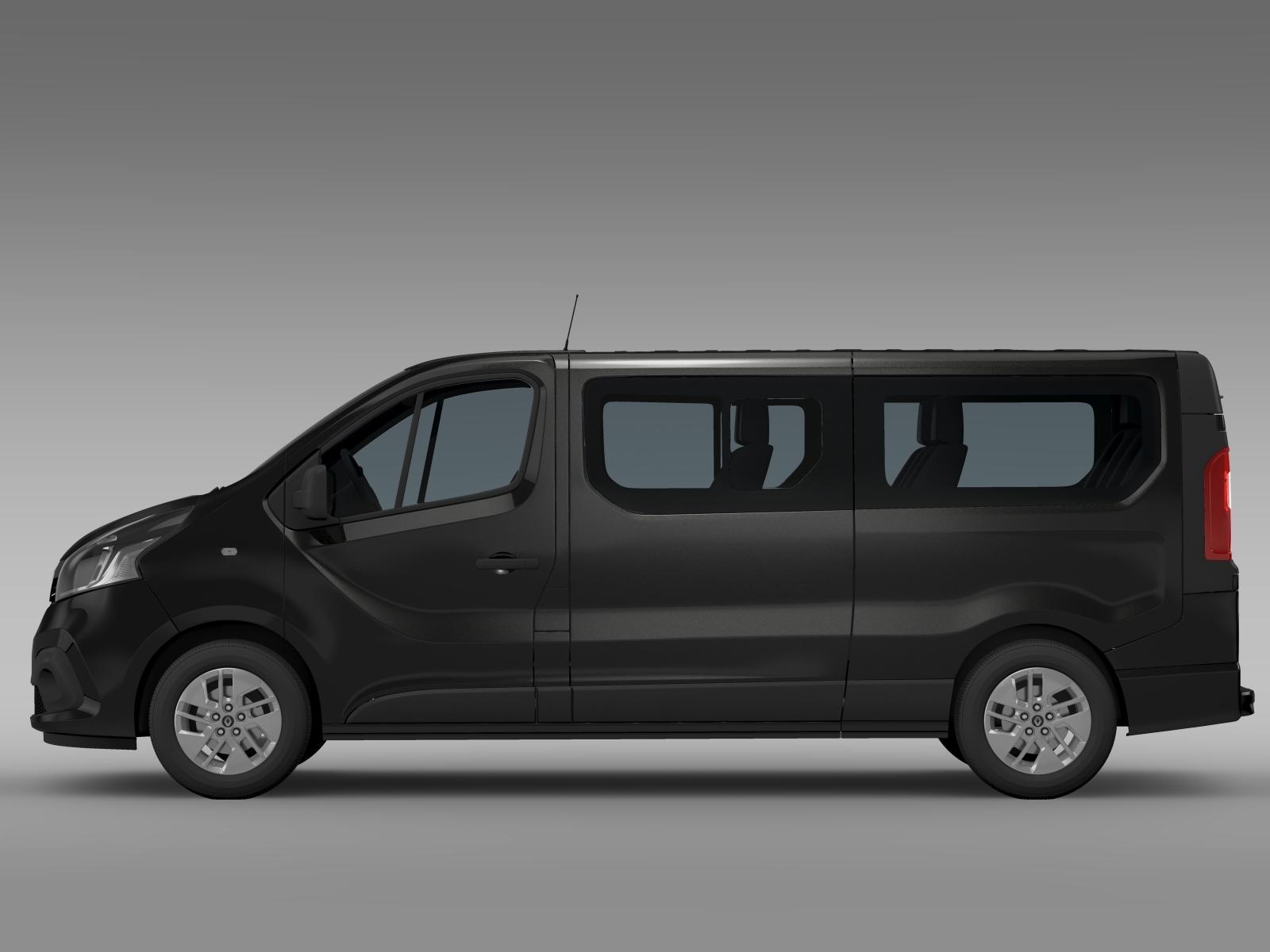 renault trafic minibus l2h1 2015 3d model. Black Bedroom Furniture Sets. Home Design Ideas