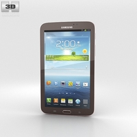 Samsung Galaxy Tab 3 7-inch Gold Brown 3D Model