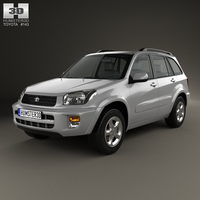 Toyota RAV4 5-door 2001 3D Model