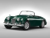 Jaguar XK 150 (1957 - 1961) 3D Model