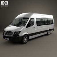 Mercedes-Benz Sprinter Passenger Van LWB HR 2013 3D Model