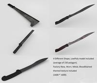 Multi-themed Machete pack 3D Model