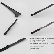 Multi-themed Machete pack 3D Model