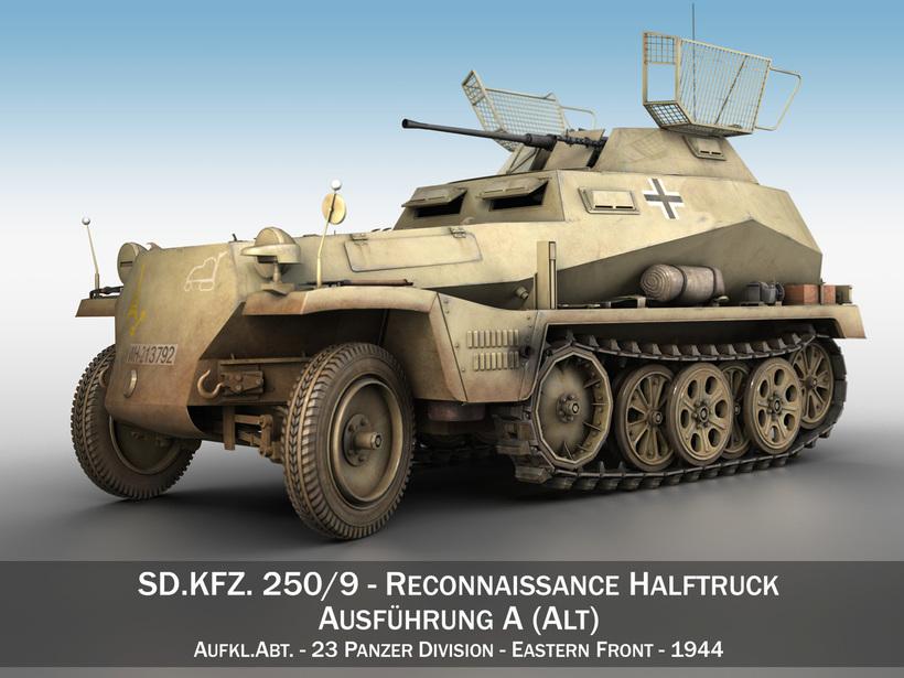 SD.KFZ 250/9 - Reconnaissance Halftruck - 23 PzDiv 3D Model