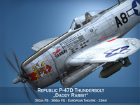 Republic P-47 Thunderbolt - Daddy Rabbit 3D Model
