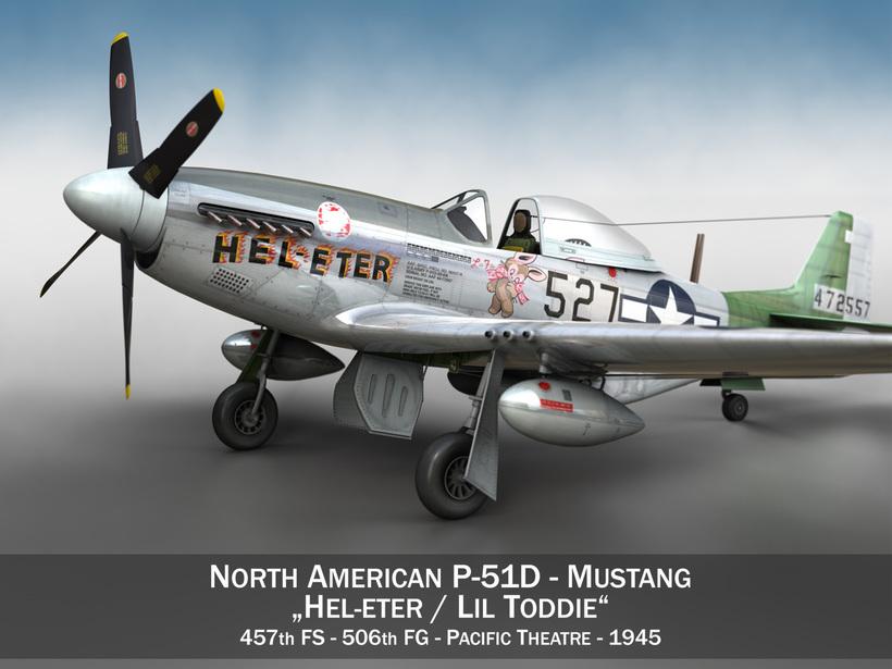 North American P-51D - Heleter 3D Model