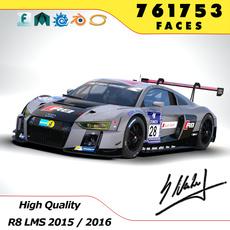 Audi R8 LMS 2016 Winner 24h 2015 Nürburgring 3D Model