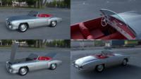 Fully modeled w interior Mercedes 190SL 3D Model