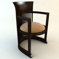 Frank Lloyd Wright Barrel Chair 3D Model