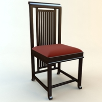 Frank Lloyd Wright Coonley Large Chair 3D Model