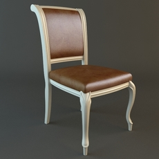 Traditional Style Side Chair 2 3D Model