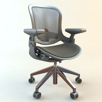 Office Contemporary Style Armchair 3D Model
