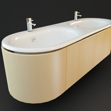 Double Bathroom Sink 3D Model