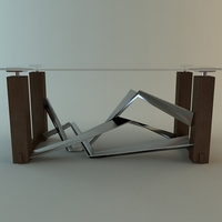 Contemporary Table Glass Top 3D Model