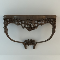 Baroque Wall Hung Console Table 3D Model