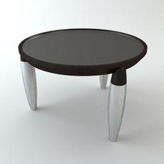 Round Tripod Table 3D Model